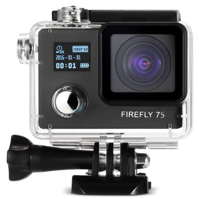 Hawkeye Firefly 7S WiFi Action Camera 90 Degree No Distortion VersionAction Cameras<br>Hawkeye Firefly 7S WiFi Action Camera 90 Degree No Distortion Version<br><br>Aerial Photography: Yes<br>Anti-shake: Yes<br>Application: Aerial Photography, Underwater, Extreme Sports<br>Audio System: Built-in microphone/speaker (AAC)<br>Auto Focusing: No<br>Battery Capacity (mAh): 1050mAh<br>Battery Type: Removable<br>Brand: Hawkeye<br>Camera Pixel : 12MP<br>Camera Timer: Yes<br>Charge way: USB charge by PC<br>Charging Time: 2.5h<br>Chipset: Novatek 96660<br>Chipset Name: Novatek<br>Features: Wireless<br>Function: Anti-Shake, Time Lapse, Waterproof, WiFi, Camera Timer<br>Image Format : JPG<br>Lens Diameter: 18mm<br>Max External Card Supported: TF 64G (not included)<br>Model: Firefly 7S<br>Night vision : No<br>Package Contents: 1 x Action Camera, 1 x Waterproof Case + Mount + Screw, 1 x English / Chinese User Manual, 1 x J-shaped Mount, 1 x Tripod Mount + Tripod Mount Adapter, 3 x Connector + Screw, 1 x Bike Handlebar Seatpo<br>Package size (L x W x H): 24.30 x 11.30 x 11.30 cm / 9.57 x 4.45 x 4.45 inches<br>Package weight: 0.6550 kg<br>Product size (L x W x H): 5.90 x 4.10 x 3.00 cm / 2.32 x 1.61 x 1.18 inches<br>Product weight: 0.0660 kg<br>Screen: Dual Screen<br>Screen resolution: 640x480<br>Screen size: 2.0inch<br>Sensor: CMOS<br>Standby time: 2h<br>Type: Sports Camera<br>Type of Camera: 2160P<br>Video format: MP4<br>Video Frame Rate: 24fps,30FPS,60FPS<br>Video Resolution: 1080P(60fps),2160P (24fps)<br>Water Resistant: 20m<br>Waterproof: Yes<br>Wide Angle: 90 degree wide angle lens<br>WIFI: Yes<br>WiFi Distance : 3 - 5m<br>Working Time: 1h