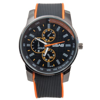 Cool Men Wrist Watch Analog with Round Dial Rubber Watch BandMens Watches<br>Cool Men Wrist Watch Analog with Round Dial Rubber Watch Band<br><br>Available Color: Blue,Green,Orange,Red,White,Yellow<br>Band color: White<br>Band material: Rubber<br>Case color: Black<br>Case material: Stainless Steel<br>Clasp type: Pin buckle<br>Display type: Analog<br>Movement type: Quartz watch<br>Package Contents: 1 x Watch<br>Package size (L x W x H): 25.30 x 5.70 x 2.00 cm / 9.96 x 2.24 x 0.79 inches<br>Package weight: 0.1060 kg<br>Product size (L x W x H): 24.30 x 4.70 x 1.00 cm / 9.57 x 1.85 x 0.39 inches<br>Product weight: 0.0560 kg<br>Shape of the dial: Round<br>Special features: Decorating small three stitches<br>Style elements: Big dial<br>The band width: 2.2 cm / 0.9 inch<br>The bottom of the table: Ordinary<br>The dial diameter: 4.3 cm / 1.7 inch<br>The dial thickness: 1.0 cm / 0.4 inch<br>Watch style: Cool<br>Watch-head: Ordinary<br>Watches categories: Men