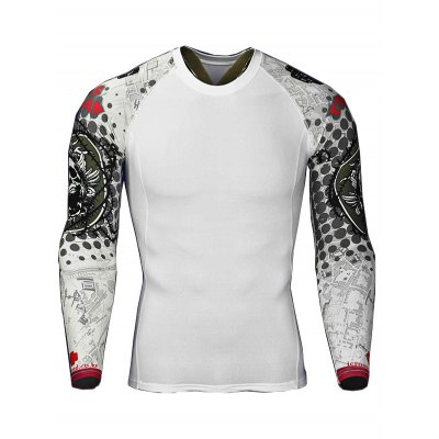 Quick-drying Mens Workout T ShirtsWeight Lifting Clothes<br>Quick-drying Mens Workout T Shirts<br><br>Color: White<br>Features: Breathable, High elasticity, Quick Dry<br>Gender: Men<br>Material: Polyester<br>Package Content: 1 x T Shirt<br>Package size: 36.00 x 25.00 x 2.00 cm / 14.17 x 9.84 x 0.79 inches<br>Package weight: 0.2300 kg<br>Product weight: 0.1900 kg<br>Size: 2XL,3XL,4XL,L,M,XL<br>Types: Long Sleeves