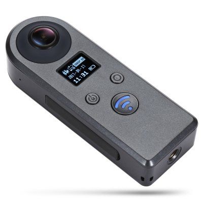 VR - 005 Panorama VR Unique Action CameraAction Cameras<br>VR - 005 Panorama VR Unique Action Camera<br><br>Aerial Photography: Yes<br>Anti-shake: No<br>Audio System: Built-in microphone/speaker (AAC)<br>Auto Focusing: No<br>Battery Capacity (mAh): 900mAh<br>Battery lifetime (times): 2 years<br>Battery Type: Built-in<br>Camera Timer: No<br>Charge way: USB charge by PC<br>Charging Time: 3h<br>Chipset: Novatek 96660<br>Chipset Name: Novatek<br>Function: WiFi, Remote Control<br>Image Format : JPG<br>Language: Arabic<br>Lens Diameter: 14mm<br>Max External Card Supported: TF 64G (not included)<br>Microphone: Built-in<br>Model: VR - 005<br>Night vision : No<br>Package Contents: 1 x 360 Degree Panorama VR Action Camera, 1 x English Users Manual, 1 x Pouch Bag, 1 x Micro USB Cable<br>Package size (L x W x H): 17.30 x 10.40 x 7.00 cm / 6.81 x 4.09 x 2.76 inches<br>Package weight: 0.3100 kg<br>Product size (L x W x H): 3.80 x 3.20 x 9.70 cm / 1.5 x 1.26 x 3.82 inches<br>Product weight: 0.0610 kg<br>Screen: With Screen<br>Screen type: OLED<br>Standby time: 90 minutes<br>Time lapse: No<br>Type: Sports Camera<br>Type of Camera: 1080P<br>Video format: MP4<br>Video Frame Rate: 30FPS<br>Video Resolution: 1080P(30fps)<br>Waterproof: No<br>Waterproof Rating : No<br>Wide Angle: 360 degree omni-directional angle<br>WIFI: Yes<br>WiFi Distance : 10m<br>Working Time: 90 minutes