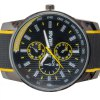 Cool Men Wrist Watch Analog with Round Dial Rubber Watch Band deal