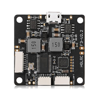 HGLRC F3 V2.2 Flight ControllerFlight Controller<br>HGLRC F3 V2.2 Flight Controller<br><br>Flight Controller Type: F3<br>Package Contents: 1 x Flight Controller, 2 x 470uF 25V Capacitor, 3 x Cable, 1 x Pack of M3 Nylon Fittings<br>Package size (L x W x H): 11.30 x 1.60 x 16.00 cm / 4.45 x 0.63 x 6.3 inches<br>Package weight: 0.0440 kg<br>Product size (L x W x H): 3.60 x 3.60 x 0.60 cm / 1.42 x 1.42 x 0.24 inches<br>Product weight: 0.0090 kg<br>Type: Flight Controller
