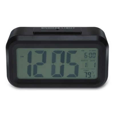 Smart Digital Alarm ClockHome Gadgets<br>Smart Digital Alarm Clock<br><br>For: Adults, Kids, Men, Teenagers, Women<br>Material: Plastic<br>Occasion: Home, Bedroom<br>Package Contents: 1 x Alarm Clock, 1 x Chinese / English User Manual<br>Package size (L x W x H): 15.40 x 9.70 x 6.50 cm / 6.06 x 3.82 x 2.56 inches<br>Package weight: 0.1950 kg<br>Product size (L x W x H): 13.50 x 7.50 x 4.60 cm / 5.31 x 2.95 x 1.81 inches<br>Product weight: 0.1470 kg<br>Type: Practical