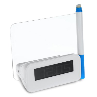 HSD114 Message Board Digital Alarm ClockHome Gadgets<br>HSD114 Message Board Digital Alarm Clock<br><br>Material: Plastic<br>Package Contents: 1 x Message Board Clock, 1 x Chinese / English User Manual, 1 x Highlighter<br>Package size (L x W x H): 15.20 x 13.10 x 7.70 cm / 5.98 x 5.16 x 3.03 inches<br>Package weight: 0.2060 kg<br>Product size (L x W x H): 13.90 x 11.80 x 6.40 cm / 5.47 x 4.65 x 2.52 inches<br>Product weight: 0.1180 kg