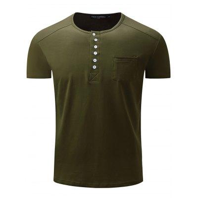 FREDD MARSHALL Button Neck T Shirt