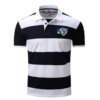 FREDD MARSHALL Embroidered Striped T Shirt