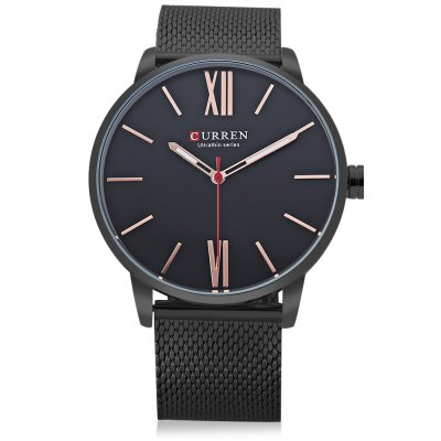 CURREN M8238 Men Quartz WatchMens Watches<br>CURREN M8238 Men Quartz Watch<br><br>Band material: Stainless Steel<br>Band size: 24.00 x 2.20 cm / 9.45 x 0.86 inches<br>Brand: Curren<br>Case material: Alloy<br>Clasp type: Hook buckle<br>Dial size: 4.30 x 4.30 x 0.80 cm / 1.69 x 1.69 x 0.31 inches<br>Display type: Analog<br>Movement type: Quartz watch<br>Package Contents: 1 x Curren M8238 Men Quartz Watch<br>Package size (L x W x H): 11.50 x 8.40 x 6.80 cm / 4.53 x 3.31 x 2.68 inches<br>Package weight: 0.2390 kg<br>Product size (L x W x H): 24.00 x 4.30 x 0.80 cm / 9.45 x 1.69 x 0.31 inches<br>Product weight: 0.0980 kg<br>Shape of the dial: Round<br>Watch color: Black, White, Golden, Black and Grey, White and Black, Black and Blue, Gold and White<br>Watch mirror: Mineral glass<br>Watch style: Business<br>Watches categories: Men<br>Water resistance : Life water resistant