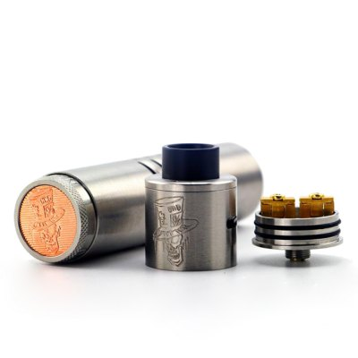 Original ADVKEN Mad Hatter 24 KitStarter Kits<br>Original ADVKEN Mad Hatter 24 Kit<br><br>Atomizer Type: Rebuildable Drippers, Rebuildable Atomizer<br>Battery Form Factor: 18650<br>Battery Quantity: 1pc ( not included )<br>Brand: ADVKEN<br>Connection Threading of Atomizer: 510<br>Connection Threading of Battery: 510<br>Material: Stainless Steel, Copper, Brass<br>Model: Mad Hatter 24<br>Package Contents: 1 x Mod, 1 x Atomizer, 1 x Cloth, 1 x Screwdriver, 1 x Brass Spring, 1 x 510 Adapter, 1 x Allen Key, 2 x Screw, 2 x Small Spring, 4 x Insulated Ring<br>Package size (L x W x H): 11.00 x 12.50 x 3.50 cm / 4.33 x 4.92 x 1.38 inches<br>Package weight: 0.2980 kg<br>Product size (L x W x H): 12.00 x 2.40 x 2.40 cm / 4.72 x 0.94 x 0.94 inches<br>Product weight: 0.1720 kg<br>Type: E-Cigarette Starter Kit