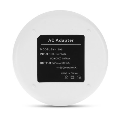 6 USB Power Charger Pad AC Adapter DockChargers &amp; Cables<br>6 USB Power Charger Pad AC Adapter Dock<br><br>Cable Length (cm): 120cm<br>Color: White<br>Features: ALL-in-1<br>Input: 100 - 240V, 50 / 60Hz, 1A<br>Material ( Cable&amp;Adapter): ABS<br>Output: 5V 6A ( max )<br>Package Contents: 1 x Power Adapter, 1 x Power Cable<br>Package size (L x W x H): 19.30 x 12.00 x 4.30 cm / 7.6 x 4.72 x 1.69 inches<br>Package weight: 0.2060 kg<br>Plug: EU plug<br>Product size (L x W x H): 8.00 x 8.00 x 2.70 cm / 3.15 x 3.15 x 1.06 inches<br>Product weight: 0.0970 kg<br>Type: Base Dock Charger