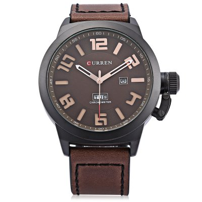 Curren M8270 Day Date Display Men Quartz WatchMens Watches<br>Curren M8270 Day Date Display Men Quartz Watch<br><br>Band material: Leather<br>Band size: 24.00 x 2.40 cm / 9.45 x 0.94 inches<br>Brand: Curren<br>Case material: Alloy<br>Clasp type: Pin buckle<br>Dial size: 4.80 x 4.80 x 1.20 cm / 1.89 x 1.89 x 0.47 inches<br>Display type: Analog<br>Movement type: Quartz watch<br>Package Contents: 1 x Curren M8270 Watch<br>Package size (L x W x H): 11.50 x 8.40 x 6.80 cm / 4.53 x 3.31 x 2.68 inches<br>Package weight: 0.2430 kg<br>Product size (L x W x H): 24.00 x 4.80 x 1.20 cm / 9.45 x 1.89 x 0.47 inches<br>Product weight: 0.1020 kg<br>Shape of the dial: Round<br>Special features: Date, Day<br>Watch color: Black, Brown, Blue, Khaki+White, Khaki+Black<br>Watch mirror: Mineral glass<br>Watch style: Casual<br>Watches categories: Men<br>Wearable length: 19.50 - 24.00 cm / 7.67 - 9.44 inches