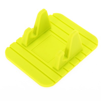 Car Anti-slip Pad Phone HolderStands &amp; Holders<br>Car Anti-slip Pad Phone Holder<br><br>Color: Green<br>Features: Anti-skid panel, Car Holder, Detachable<br>Material: Silicone<br>Package Contents: 1 x Anti-slip Pad Holder<br>Package size (L x W x H): 16.00 x 11.20 x 3.20 cm / 6.3 x 4.41 x 1.26 inches<br>Package weight: 0.1030 kg<br>Product size (L x W x H): 11.00 x 9.00 x 4.00 cm / 4.33 x 3.54 x 1.57 inches<br>Product weight: 0.0640 kg<br>Type: Desktop, Car Stand