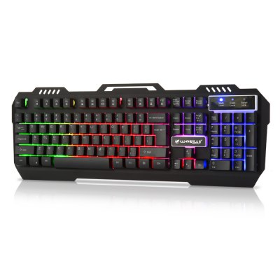Warwolf K - 12 Metal RGB Light Gaming KeyboardKeyboards<br>Warwolf K - 12 Metal RGB Light Gaming Keyboard<br><br>Anti-ghosting Number: 19<br>Backlight Type: RGB Light<br>Bluetooth Version: Not Supported<br>Brand: Warwolf<br>Cable Length (m): 1.6m<br>Color: Black<br>Connection: Wired<br>Features: Gaming<br>Function: Lighted<br>Interface: USB 2.0<br>Key Number: 104<br>Keyboard Lifespan ( times): 10 millions<br>Keyboard Type: Membrane Keyboards<br>Material: Aluminum Alloy, ABS<br>Model: K - 12<br>Operating voltage: 5V<br>Package Contents: 1 x Warwolf K - 12 Gaming Keyboard<br>Package size (L x W x H): 48.00 x 19.50 x 7.00 cm / 18.9 x 7.68 x 2.76 inches<br>Package weight: 1.0200 kg<br>Power Supply: USB Port<br>Product size (L x W x H): 47.00 x 17.00 x 3.50 cm / 18.5 x 6.69 x 1.38 inches<br>Product weight: 0.7860 kg<br>Response Speed: Normal<br>System support: Windows Vista, Windows 8, Windows 7, Mac OS, Windows 2000, Windows XP<br>Type: Keyboard