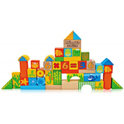 MINGTA A806 Wooden Construction Building Brick Toy