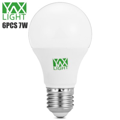 6pcs YWXLight 7W E27 600Lm SMD2835 LED Bulb