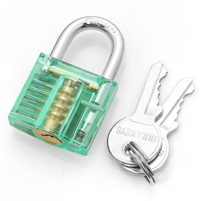 HakkaDeal Practice LockLock Picks and Tools<br>HakkaDeal Practice Lock<br><br>Brand: HakkaDeal<br>Color: Blue,Green,Orange,Pink,White<br>Materials: Alloy<br>Package Contents: 1 x Clock, 2 x Keys<br>Package size (L x W x H): 8.00 x 6.00 x 3.00 cm / 3.15 x 2.36 x 1.18 inches<br>Package weight: 0.1400 kg<br>Packing Type: Kits<br>Product size (L x W x H): 5.00 x 3.00 x 1.30 cm / 1.97 x 1.18 x 0.51 inches<br>Product weight: 0.1160 kg<br>Special function: Clear to See Moving Parts