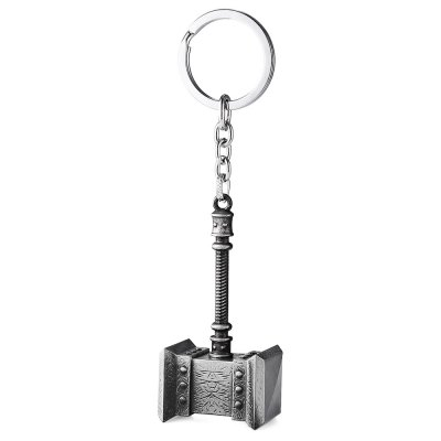 Metal Hammer Style Key Chain Toy for Decor