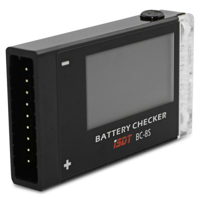 iSDT BC - 8S Battery CheckerMulti Rotor Parts<br>iSDT BC - 8S Battery Checker<br><br>Brand: iSDT<br>Package Contents: 1 x BC - 8S Battery Checker<br>Package size (L x W x H): 9.00 x 6.20 x 1.90 cm / 3.54 x 2.44 x 0.75 inches<br>Package weight: 0.0660 kg<br>Product size (L x W x H): 5.40 x 3.00 x 0.90 cm / 2.13 x 1.18 x 0.35 inches<br>Product weight: 0.0150 kg<br>Type: Voltage Checker