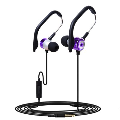 HUAST HST - 45 Metal Sport Earphones with Ear Hook