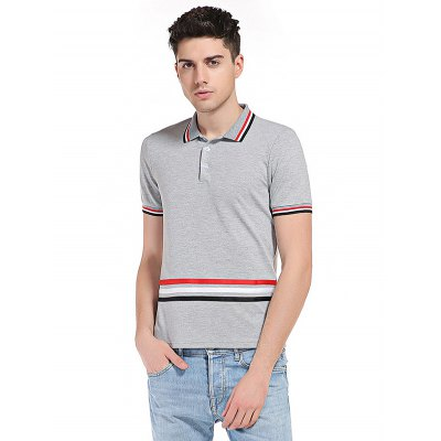 WHATLEES Striped Cotton T Shirts