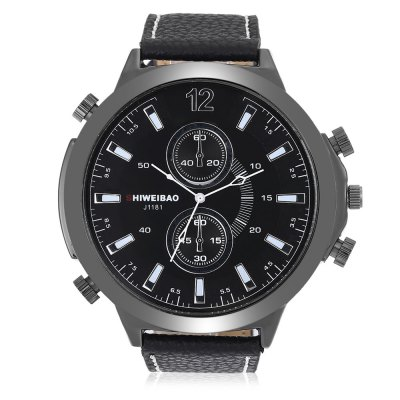 SHIWEIBAO J1181 Quartz Watch for MenMens Watches<br>SHIWEIBAO J1181 Quartz Watch for Men<br><br>Band material: Leather<br>Band size: 27.00 x 2.00 cm / 10.63 x 0.78 inches<br>Brand: Shiweibao<br>Case material: Alloy<br>Clasp type: Pin buckle<br>Dial size: 5.50 x 5.50 x 1.24 cm / 2.17 x 2.17 x 0.49 inches<br>Display type: Analog<br>Movement type: Quartz watch<br>Package Contents: 1 x SHIWEIBAO J1181 Watch<br>Package size (L x W x H): 10.30 x 7.85 x 7.34 cm / 4.06 x 3.09 x 2.89 inches<br>Package weight: 0.1800 kg<br>Product size (L x W x H): 27.00 x 5.50 x 1.24 cm / 10.63 x 2.17 x 0.49 inches<br>Product weight: 0.0790 kg<br>Shape of the dial: Round<br>Watch color: Black and White, Brown + White, Blue, Black<br>Watch style: Casual<br>Watches categories: Male table<br>Wearable length: 19.00 - 24.00 cm / 7.48 - 9.44 inches