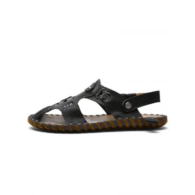 Handmade Men Leather SandalsMens Sandals<br>Handmade Men Leather Sandals<br><br>Color: Black,Brown,White<br>Contents: 1 x Pair of Shoes<br>Materials: Genuine Leather, Rubber<br>Occasion: Casual<br>Package Size ( L x W x H ): 33.00 x 22.00 x 11.00 cm / 12.99 x 8.66 x 4.33 inches<br>Package Weights: 0.780kg<br>Pattern Type: Solid<br>Seasons: Summer<br>Size: 38,39,40,41,42,43,44<br>Style: Leisure<br>Type: Sandals