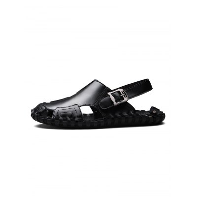 Handmade Pin Buckle Men Leather SandalsMens Sandals<br>Handmade Pin Buckle Men Leather Sandals<br><br>Color: Black,Brown,White<br>Contents: 1 x Pair of Shoes<br>Materials: Genuine Leather, Rubber<br>Occasion: Casual<br>Package Size ( L x W x H ): 33.00 x 22.00 x 11.00 cm / 12.99 x 8.66 x 4.33 inches<br>Package Weights: 0.780kg<br>Pattern Type: Solid<br>Seasons: Summer<br>Size: 38,39,40,41,42,43,44<br>Style: Leisure<br>Type: Sandals