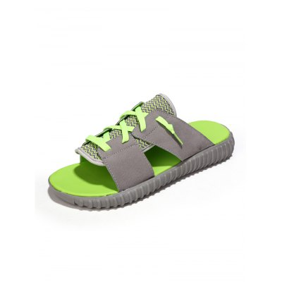 Lace-up Men Slippers