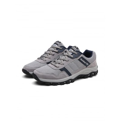 Outdoor Hiking SneakersHiking Shoes<br>Outdoor Hiking Sneakers<br><br>Available Size: 37, 38, 39, 40, 41, 42, 43, 44<br>Color: Black,Blue,Gray<br>Features: Breathable<br>Gender: Men<br>Highlights: Breathable<br>Package Contents: 1 x Pair of Sneakers<br>Package size: 33.00 x 22.00 x 11.00 cm / 12.99 x 8.66 x 4.33 inches<br>Package weight: 0.7700 kg<br>Product weight: 0.6000 kg<br>Season: Spring, Autumn<br>Sole Material: Rubber<br>Upper Height: Low