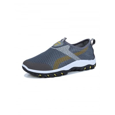 Fashionable Outdoor SneakersHiking Shoes<br>Fashionable Outdoor Sneakers<br><br>Available Size: 39, 40, 41, 42, 43, 44<br>Color: Black,Blue,Gray<br>Features: Breathable<br>Package Contents: 1 x Pair of Sneakers<br>Package size: 33.00 x 22.00 x 11.00 cm / 12.99 x 8.66 x 4.33 inches<br>Package weight: 0.9500 kg<br>Product weight: 0.6000 kg<br>Season: Summer<br>Sole Material: Rubber<br>Type: Hiking Shoes<br>Upper Height: Low