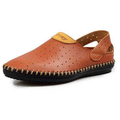 Genuine Leather Hole Sandals