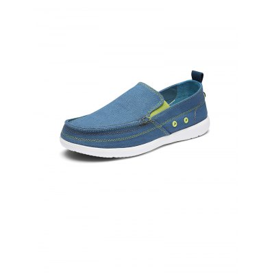 Summer Lazy Canvas ShoesCasual Shoes<br>Summer Lazy Canvas Shoes<br><br>Color: Deep Blue,Denim Blue,Gray,Khaki<br>Contents: 1 x Pair of Shoes<br>Materials: Canvas, EVA, Rubber<br>Occasion: Casual<br>Package Size ( L x W x H ): 30.00 x 15.00 x 11.00 cm / 11.81 x 5.91 x 4.33 inches<br>Package Weights: 0.62KG<br>Seasons: Summer<br>Size: 39,40,41,42,43,44<br>Style: Comfortable, Leisure<br>Type: Casual Shoes
