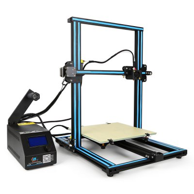 Creality CR - 10 3D Printer3D Printers, 3D Printer Kits<br>Creality CR - 10 3D Printer<br><br>Brand: Creality<br>File format: STL, OBJ, JPG, G-code<br>Host computer software: Cura<br>LCD Screen: Yes<br>Material diameter: 1.75mm<br>Memory card offline print: SD card<br>Model: CR - 10<br>Nozzle diameter: 0.4mm<br>Package size: 64.00 x 53.00 x 27.00 cm / 25.2 x 20.87 x 10.63 inches<br>Package weight: 14.0000 kg<br>Packing Contents: 1 x CR - 10 3D Desktop DIY Printer Kit<br>Packing Type: unassembled packing<br>Print speed: 80mm / s<br>Product size: 61.50 x 60.00 x 49.00 cm / 24.21 x 23.62 x 19.29 inches<br>Product weight: 13.0000 kg<br>Type: DIY