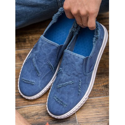Distressed Men Canvas ShoesCasual Shoes<br>Distressed Men Canvas Shoes<br><br>Color: Black,Blue,Green,Orange Yellow<br>Contents: 1 x Pair of Shoes<br>Materials: Canvas, Rubber<br>Occasion: Casual<br>Package Size ( L x W x H ): 39.00 x 19.00 x 11.00 cm / 15.35 x 7.48 x 4.33 inches<br>Package Weights: 0.880kg<br>Pattern Type: Solid<br>Seasons: Autumn,Spring,Summer<br>Size: 39,40,41,42,43,44<br>Style: Leisure<br>Type: Casual Shoes