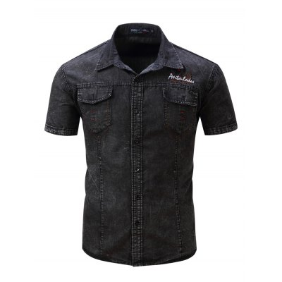 FREDD MARSHALL Washed Denim ShirtMens Shirts<br>FREDD MARSHALL Washed Denim Shirt<br><br>Brand: FREDD MARSHALL<br>Color: Black,Deep Blue<br>Material: Cotton<br>Package Contents: 1 x FREDD MARSHALL Denim Shirt<br>Package size: 36.00 x 26.00 x 2.00 cm / 14.17 x 10.24 x 0.79 inches<br>Package weight: 0.2500 kg<br>Product weight: 0.2100 kg<br>Size: L,M,XL,XXL