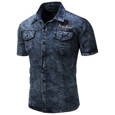 FREDD MARSHALL Washed Denim Shirt