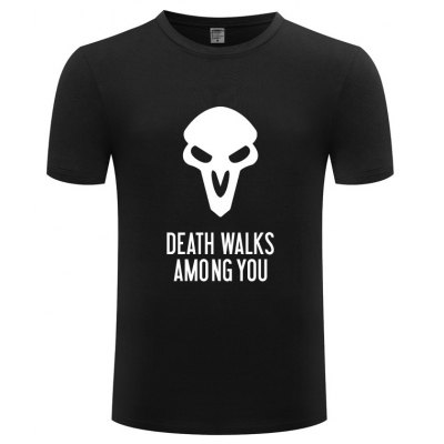 Skull Picture Printing Design T Shirts for Men