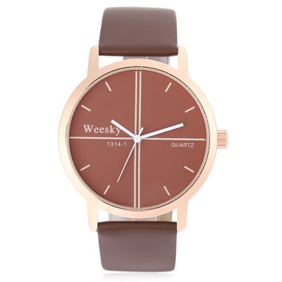 WEESKY 1314 - 1 Fashion Men Quartz WatchMens Watches<br>WEESKY 1314 - 1 Fashion Men Quartz Watch<br><br>Available Color: Black,Coffee,White<br>Band material: Genuine Leather<br>Band size: 24.00 x 2.00 cm / 9.45 x 0.78 inches<br>Brand: Weesky<br>Case material: Alloy<br>Clasp type: Pin buckle<br>Dial size: 4.00 x 4.00 x 0.80 cm / 1.57 x 1.57 x 0.31 inches<br>Display type: Analog<br>Movement type: Quartz watch<br>Package Contents: 1 x WEESKY 1314 - 1 Men Quartz Watch<br>Package size (L x W x H): 25.00 x 5.00 x 2.00 cm / 9.84 x 1.97 x 0.79 inches<br>Package weight: 0.0620 kg<br>Product size (L x W x H): 24.00 x 4.00 x 0.80 cm / 9.45 x 1.57 x 0.31 inches<br>Product weight: 0.0320 kg<br>Shape of the dial: Round<br>Watch style: Casual<br>Watches categories: Male table<br>Water resistance : Life water resistant<br>Wearable length: 16.00 - 21.00 cm / 6.29 - 8.26 inches