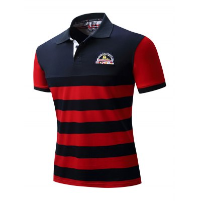 FREDD MARSHALL Striped Polo T ShirtsMens Short Sleeve Tees<br>FREDD MARSHALL Striped Polo T Shirts<br><br>Brand: FREDDMARSHALL<br>Color: Red,White<br>Material: Cotton<br>Package Content: 1 x FREDD MARSHALL T Shirt<br>Package size: 36.00 x 26.00 x 2.00 cm / 14.17 x 10.24 x 0.79 inches<br>Package weight: 0.2300 kg<br>Pattern Type: Striped<br>Product weight: 0.2000 kg<br>Season: Autumn, Summer, Spring, Winter<br>Size: L,M,XL,XXL<br>Sleeve Length: Short Sleeves<br>Style: Casual