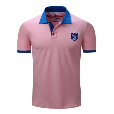 FREDD MARSHALL Embroidered Polo T Shirts