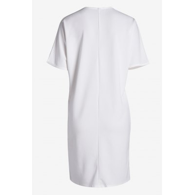 Elegant Chest Pocket Front Slit Women Long Shirts with V NeckTees<br>Elegant Chest Pocket Front Slit Women Long Shirts with V Neck<br><br>Clothing Length: Long<br>Collar: V-Neck<br>Color: White<br>Elasticity: Micro-elastic<br>Embellishment: Front Pocket<br>Material: Cotton, Polyester<br>Package Contents: 1 x T Shirt<br>Package size: 35.00 x 28.00 x 2.00 cm / 13.78 x 11.02 x 0.79 inches<br>Package weight: 0.2500 kg<br>Pattern Type: Solid Color<br>Product weight: 0.2200 kg<br>Season: Summer<br>Size: One Size<br>Sleeve Length: Short Sleeves<br>Style: Fashion