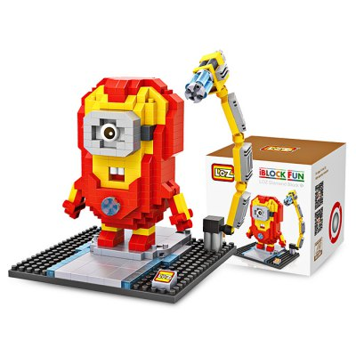 LOZ ABS Cartoon Figure Style Building Block - 390pcs / setBlock Toys<br>LOZ ABS Cartoon Figure Style Building Block - 390pcs / set<br><br>Brand: LOZ<br>Completeness: Semi-finished Product<br>Gender: Unisex<br>Materials: ABS<br>Package Contents: 1 x Building Block Set, 1 x Operation Instruction<br>Package size: 8.50 x 8.50 x 8.50 cm / 3.35 x 3.35 x 3.35 inches<br>Package weight: 0.1200 kg<br>Product size: 8.00 x 8.00 x 9.60 cm / 3.15 x 3.15 x 3.78 inches<br>Product weight: 0.0900 kg<br>Suitable Age: Kid<br>Theme: Movie and TV<br>Type: Kids Building