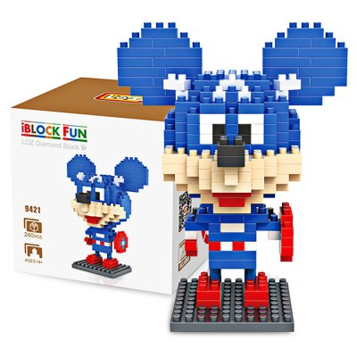 LOZ ABS Cartoon Figure Building Block - 240pcs / setBlock Toys<br>LOZ ABS Cartoon Figure Building Block - 240pcs / set<br><br>Brand: LOZ<br>Completeness: Semi-finished Product<br>Gender: Unisex<br>Materials: ABS<br>Package Contents: 1 x Building Block Set, 1 x Operation Instruction<br>Package size: 8.50 x 8.50 x 8.50 cm / 3.35 x 3.35 x 3.35 inches<br>Package weight: 0.0900 kg<br>Product size: 7.60 x 3.50 x 9.20 cm / 2.99 x 1.38 x 3.62 inches<br>Product weight: 0.0600 kg<br>Suitable Age: Kid<br>Theme: Movie and TV<br>Type: Kids Building