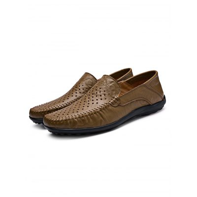 Genuine Leather Air Hole Men LoafersCasual Shoes<br>Genuine Leather Air Hole Men Loafers<br><br>Color: Black,Cerulean,Khaki,Light Brown<br>Contents: 1 x Pair of Shoes<br>Materials: Genuine Leather, Rubber<br>Occasion: Casual<br>Package Size ( L x W x H ): 33.00 x 22.00 x 11.00 cm / 12.99 x 8.66 x 4.33 inches<br>Package Weights: 0.680kg<br>Pattern Type: Solid<br>Seasons: Autumn,Spring,Summer<br>Size: 38,39,40,41,42,43,44,45<br>Style: Leisure<br>Type: Casual Shoes