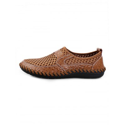 Breathable Air Hole Men LoafersCasual Shoes<br>Breathable Air Hole Men Loafers<br><br>Color: Blackish green,Brown,Cerulean<br>Contents: 1 x Pair of Shoes<br>Materials: Mesh, PU, Rubber<br>Occasion: Casual<br>Package Size ( L x W x H ): 33.00 x 22.00 x 11.00 cm / 12.99 x 8.66 x 4.33 inches<br>Package Weights: 0.580kg<br>Pattern Type: Solid<br>Seasons: Autumn,Spring,Summer<br>Size: 38,39,40,41,42,43,44<br>Style: Comfortable<br>Type: Casual Shoes