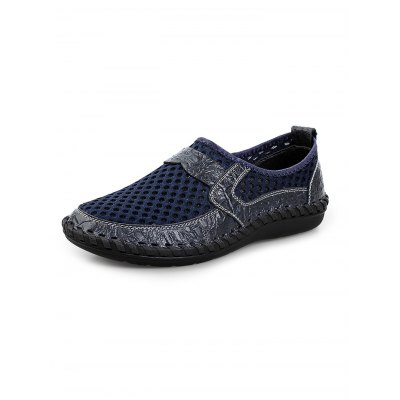 Breathable Air Hole Men LoafersMen's Oxford<br>Breathable Air Hole Men Loafers<br><br>Color: Blackish green,Brown,Cerulean<br>Contents: 1 x Pair of Shoes<br>Materials: Mesh, PU, Rubber<br>Occasion: Casual<br>Package Size ( L x W x H ): 33.00 x 22.00 x 11.00 cm / 12.99 x 8.66 x 4.33 inches<br>Package Weights: 0.580kg<br>Pattern Type: Solid<br>Seasons: Autumn,Spring,Summer<br>Size: 38,39,40,41,42,43,44<br>Style: Comfortable<br>Type: Casual Shoes