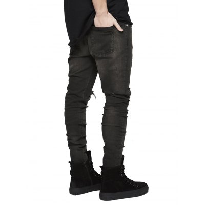 Skinny Men Jeans with Knee Rips in BleachMens Pants<br>Skinny Men Jeans with Knee Rips in Bleach<br><br>Material: Cotton<br>Package Contents: 1 x Pair of Jeans<br>Package size: 20.00 x 20.00 x 3.00 cm / 7.87 x 7.87 x 1.18 inches<br>Package weight: 0.4700 kg<br>Product weight: 0.4000 kg