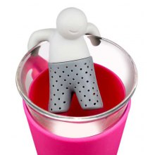 Novel Teabags Bathing Kids Style Silicone Tea Strainer Filter Home Office Gadget
