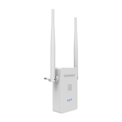 Comfast CF - WR302S V2 300Mbps WiFi RepeaterWireless Routers<br>Comfast CF - WR302S V2 300Mbps WiFi Repeater<br><br>Brand Name: Comfast<br>Built-in VPN: Not Support<br>DC Port: Yes<br>Firewall Settings: Support<br>Freq: 100Hz - 16KHz<br>Gain dBi: 5dBi<br>LAN Ports: Under 2 ports<br>Language: English<br>Max. LAN Data Rate: 100Mbps<br>Model: CF - WR302S V2<br>Network Communiction: WiFi<br>Network Protocols: IEEE 802.11b,IEEE 802.11g,IEEE 802.11n<br>Package size: 21.70 x 5.80 x 3.00 cm / 8.54 x 2.28 x 1.18 inches<br>Package weight: 0.2200 kg<br>Packing List: 1 x WiFi Repeater<br>Product size: 15.00 x 4.80 x 2.00 cm / 5.91 x 1.89 x 0.79 inches<br>Product weight: 0.0750 kg<br>Quantity of Antenna: 2<br>Router Connectivity Type: Ethernet, Wireless<br>Speed of Ethernet Port: 100Mbps<br>Transmission Rate: 300Mbps<br>Type: Repeater<br>WiFi Distance : 150 Square Metre<br>WiFi Network Frequency: 2.4GHz<br>Wireless Security: WPS<br>Wireless Standard: Wireless G,Wireless N<br>Working Voltage: 100 - 240V, 50 / 60Hz