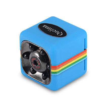 Quelima SQ11 Mini Camera 1080P HD DVRCar DVR<br>Quelima SQ11 Mini Camera 1080P HD DVR<br><br>Anti-shake: No<br>Aperture Range : f2.0<br>Audio System: Monophony<br>Battery Capacity (mAh?: 200mAh<br>Battery Charging Time: 2 - 3 hours<br>Brand: Quelima<br>Camera Pixel : 1.2MP<br>Charge way: USB charge by PC<br>Chipset: Generalplus1248<br>Decode Format: H.264<br>GPS: No<br>Image Format : JPG<br>Image resolution: 12M (4032 x 3024)<br>Image Sensor: CMOS<br>ISO: ISO100<br>Lens Size: 3.6mm<br>Loop-cycle Recording : Yes<br>Loop-cycle Recording Time: 5min<br>Max External Card Supported: TF 32G (not included)<br>Model: SQ11<br>Motion Detection: Yes<br>Motion Detection Distance: 5 - 10m<br>Night vision : Yes<br>Night Vision Distance: 3 - 5m ( optimal distance is 3m )<br>Operating Temp.: -10 - 50 Deg.C<br>Package Contents: 1 x DVR Camera, 1 x Clamp, 1 x English and Chinese Manual, 1 x Holder, 1 x Fixed Clip, 1 x Mini 8 Pin USB / TV Out 2-in-1 Cable<br>Package size (L x W x H): 10.50 x 11.00 x 5.00 cm / 4.13 x 4.33 x 1.97 inches<br>Package weight: 0.1050 kg<br>Parking Monitoring: No<br>Power Cable Length: 60cm<br>Product size (L x W x H): 2.20 x 2.20 x 2.20 cm / 0.87 x 0.87 x 0.87 inches<br>Product weight: 0.0200 kg<br>System requirements: Mac OS x 10.3.6 above,Win 7,Win 8,Windows 2000 / XP / Vista<br>Time Stamp: Yes<br>Type: Mini DVR<br>Video format: AVI<br>Video Frame Rate: 30fps<br>Video Output : AV-Out<br>Video Resolution: 1080P (1920 x 1080),720P (1080 x 720)<br>Video System: NTSC<br>Waterproof: No<br>Waterproof Rating : 0<br>White Balance Mode: Auto<br>Wide Angle: 120 degree wide angle<br>Working Time: about 60mins<br>Working Voltage: 5V