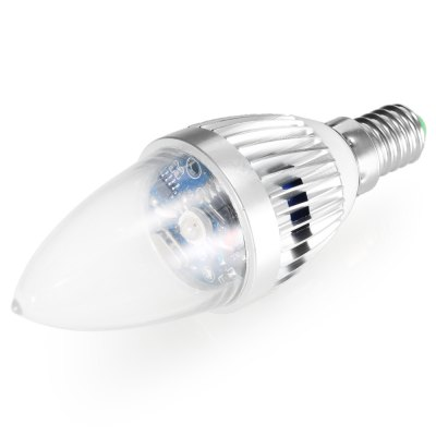 YouOKLight E14 3W IR RGB Candle Light - 2pcsLED Light Bulbs<br>YouOKLight E14 3W IR RGB Candle Light - 2pcs<br><br>Available Light Color: RGB<br>Brand: YouOKLight<br>Features: Low Power Consumption, Long Life Expectancy, Energy Saving, Dimmable, Remote-Controlled<br>Function: Studio and Exhibition Lighting, Commercial Lighting, Home Lighting<br>Holder: E14<br>Luminous Flux: 12.7LM<br>Output Power: 3W<br>Package Contents: 2 x E14 3W Silver Edged RGB Candle Light, 1 x Remote Controller<br>Package size (L x W x H): 9.00 x 8.00 x 4.00 cm / 3.54 x 3.15 x 1.57 inches<br>Package weight: 0.1500 kg<br>Product size (L x W x H): 7.00 x 4.00 x 4.00 cm / 2.76 x 1.57 x 1.57 inches<br>Product weight: 0.1100 kg<br>Remote controller battery: 1 x Replaceable CR2025 Battery ( built-in )<br>Sheathing Material: Glass<br>Type: Candle Bulbs<br>Voltage (V): AC85-265<br>Wattage Range: 5-10W